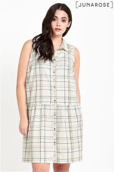 Junarose Sleeveless Check Dress