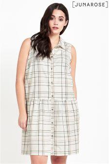 Junarose Sleeveless Check Dress