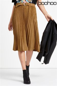 Boohoo Pleated Skirt