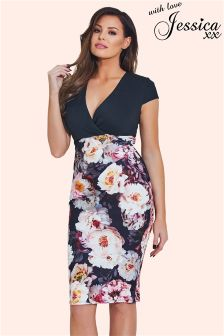 Jessica Wright Floral V neck Bodycon Dress