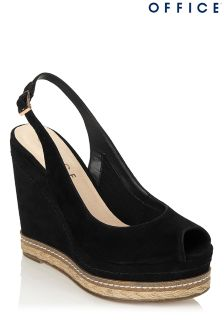 Office Peep Toe Espadrille Wedges