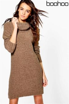 Boohoo Cowl Neck Jumper Dress