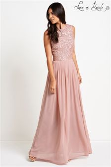 Lace & Beads Embellished Ombre Maxi