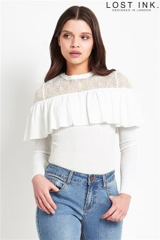 Lost Ink Frill Lace Jumper