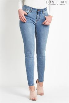 Lost Ink Low Rise Skinny Jeans