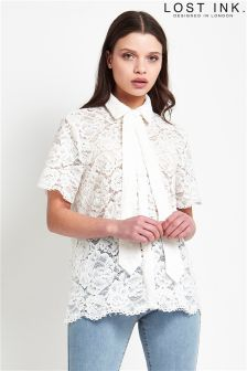 Lost Ink Lace Shirt