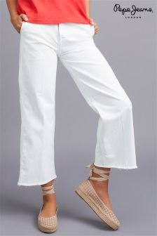 """Pepe Jeans Cropped Wide Leg Jeans 34"""""""