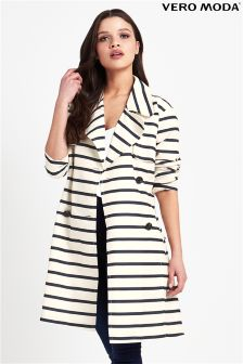 Vero Moda Trench Stripe Coat