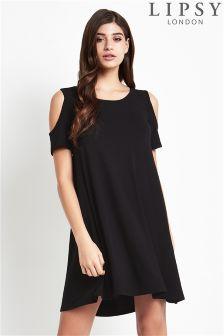 Lipsy Cold Shoulder Jersey Dress