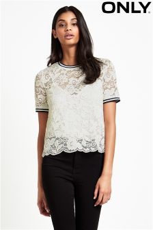 Only Lace Short Sleeve Top