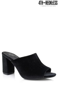 4th & Reckless Suede Block Heel Mules