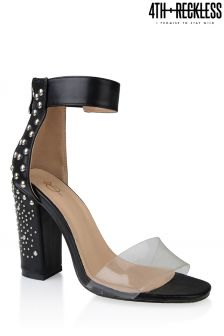 4th & Reckless Perspex Strap Embellished Heels