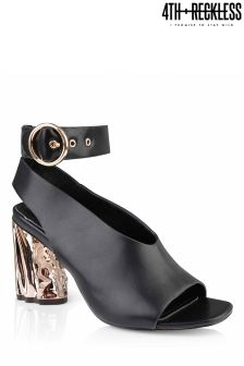 4th & Reckless Ankle Strap Metallic Heels