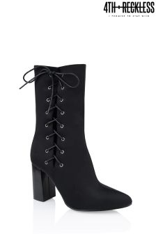 4th & Reckless Lace Up Block Heel Boots
