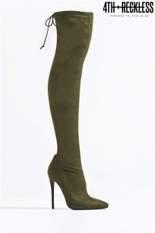 4th & Reckless Over The Knee Stiletto Heels