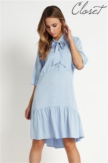 Closet Tie Neck Dress