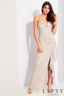 Lipsy Ruffle Front Maxi Bridesmaid Dress