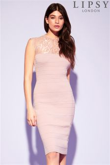Lipsy Lace Bandage Dress