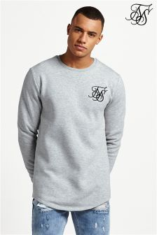 Siksilk Curved Hem Crew Sweater