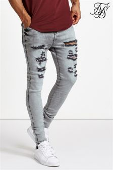 Siksilk Snow Wash Ripped Hareem Denim