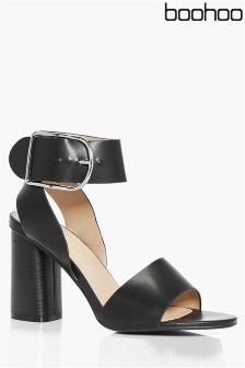Boohoo Buckle Two Part Heel