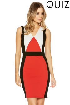Quiz Panelled Bodycon Midi Dress