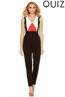 Quiz Panelled Jumpsuit