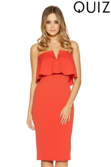 Quiz Frill Detail Midi Dress