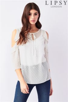 Lipsy Cold Shoulder Blouse