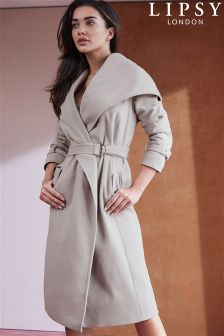 Lipsy Shawl Collar Hooded Coat