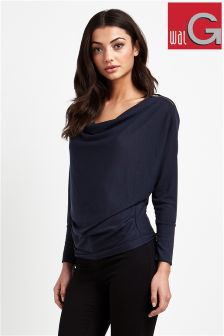 Wal G Zip Shoulder Top