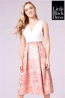 Little Black Dress Jacquard Skirt Midi Prom Dress