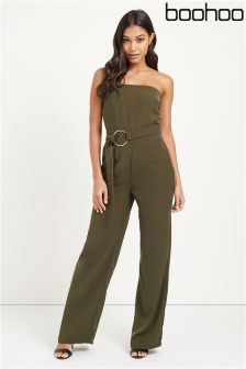 Boohoo O-ring Belted Bandeau Jumpsuit