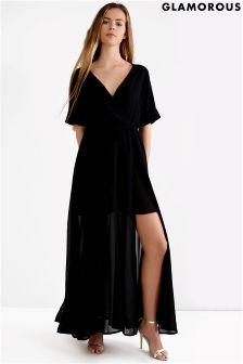 Glamorous Petite Wrap Maxi Dress