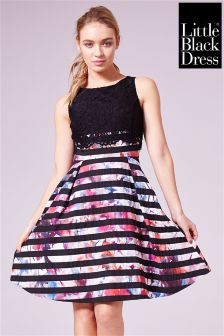 Little Black Dress Lace Bodice Skater Dress