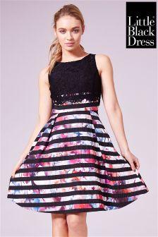 Little Black Dress Lace Bodice Skater Dress