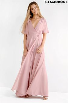 Glamorous Wrap Over Maxi Dress