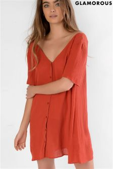 Glamorous Button Up Front Tea Dress