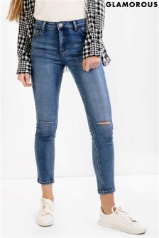Glamorous Curve Ripped Skinny Jeans