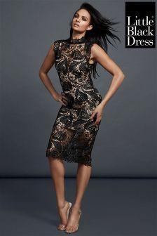 Little Black Dress Guipure Lace Pencil Dress