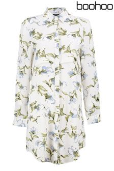 Boohoo Printed Shirt Dress