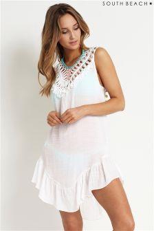 South Beach Crochet Tassel Dress