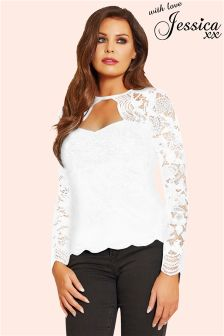 Jessica Wright Long Sleeve Lace Top
