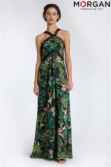Morgan Halter Maxi Dress