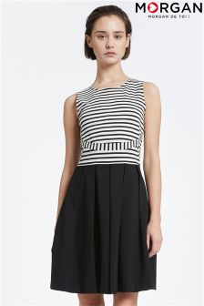 Morgan Stripe Skater Dress
