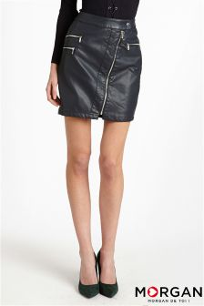 Morgan Asymmetric Zip Skirt