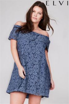 Elvi Curve Lace Dress