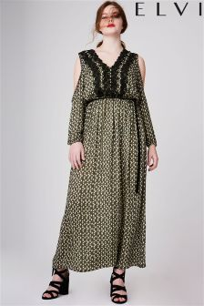 Elvi Curve Diamond Print Maxi Dress