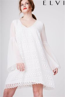 Elvi Curve Lace Gypsy Dress