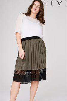 Elvi Curve Lace Pleated Skirt